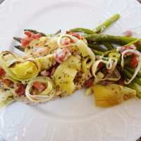 Italian Artichoke Chicken with Asparagus