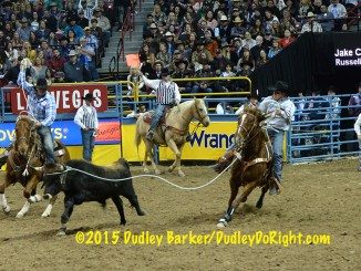 Jake Cooper, shown in Round 9 of the 2015 National Finals Rodeo, is one of several local athletes scrambling to get in position to return to the NFR. || Courtesy DUDLEY BARKER/DudleyDoRight.com
