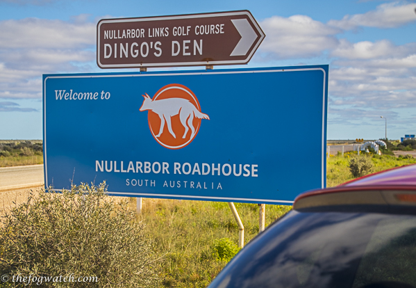 Nullarbor Roadhouse sign