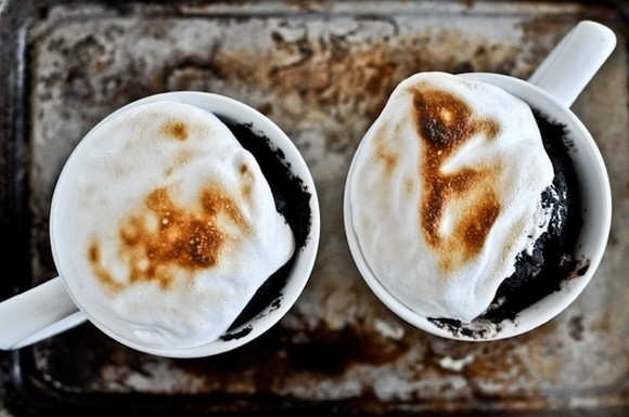 Photo and recipe for s'mores in a mug: howsweeteats.com