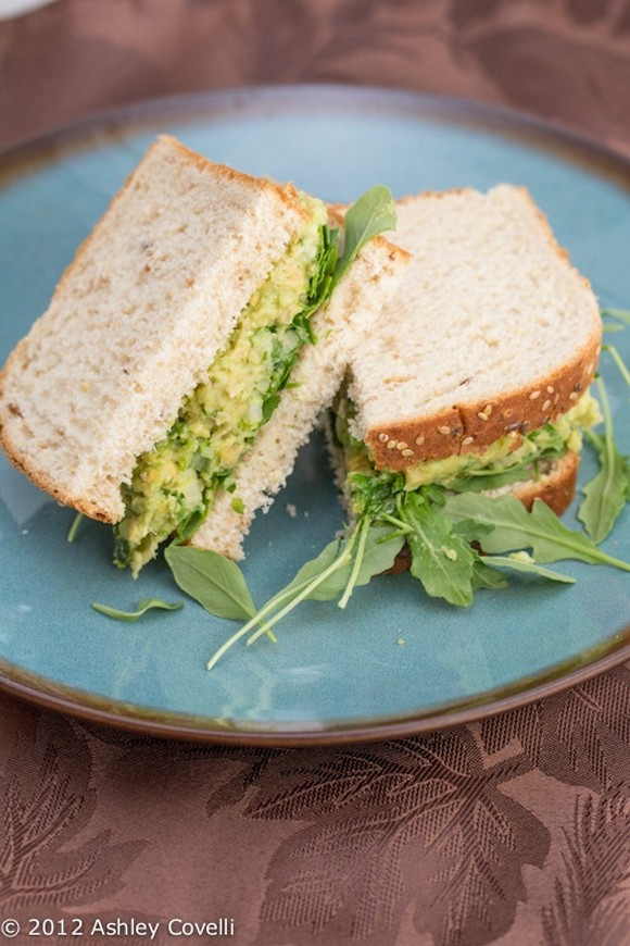 Smashed Chickpea and Avocado Salad Sandwich recipe by Big Flavors from a Tiny Kitchen