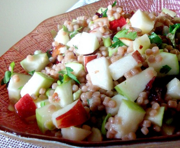 Apples and Honey couscous salad for Rosh Hashanah recipe photo