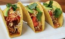Healthy Crockpot Chicken Tacos recipe photo