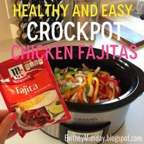 Healthy and Easy Crockpot Chicken Fajitas recipe photo