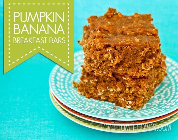 Pumpkin Banana Breakfast Bar recipe photo