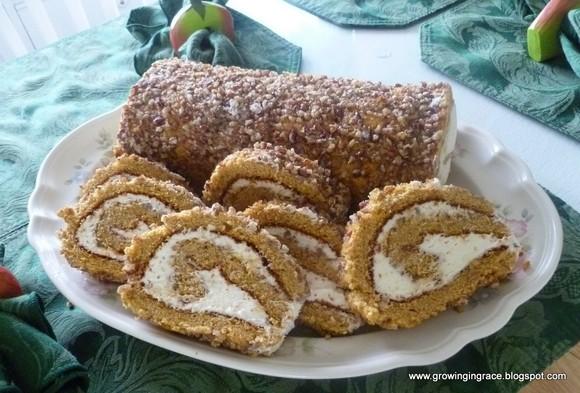 Pumpkin Nut Roll recipe photo