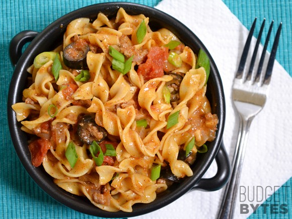 Beef Taco Pasta recipe photo