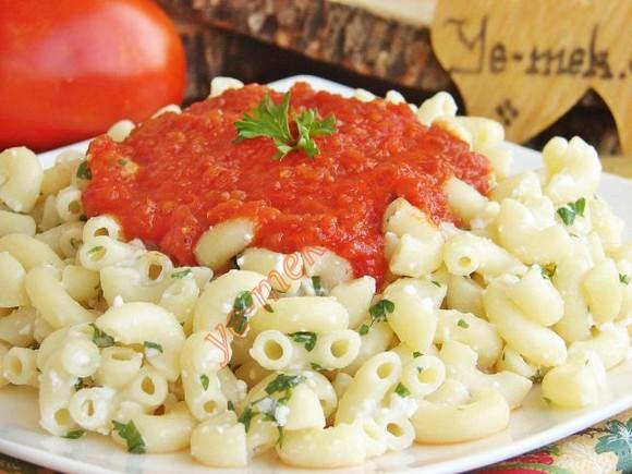 Cheese Pasta with Tomato Sauce recipe photo