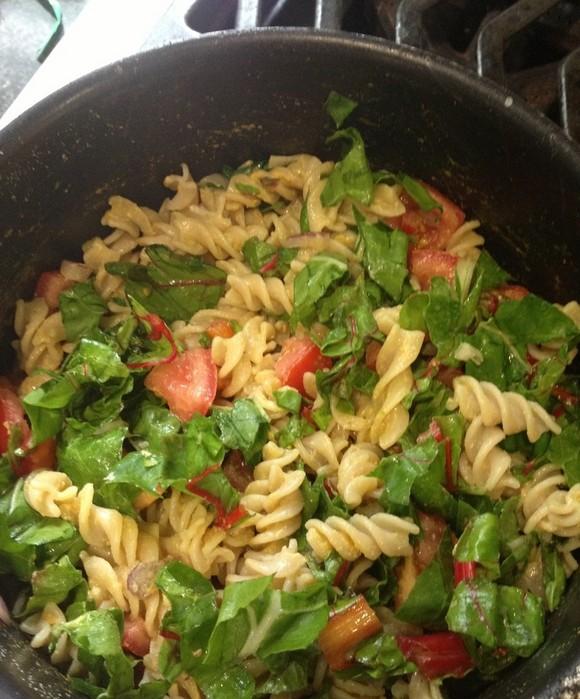Gluten-Free, Vegan Pasta Primavera recipe photo