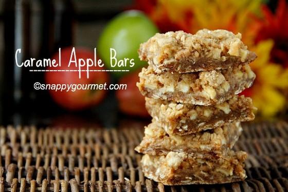 Caramel Apple Bars recipe photo