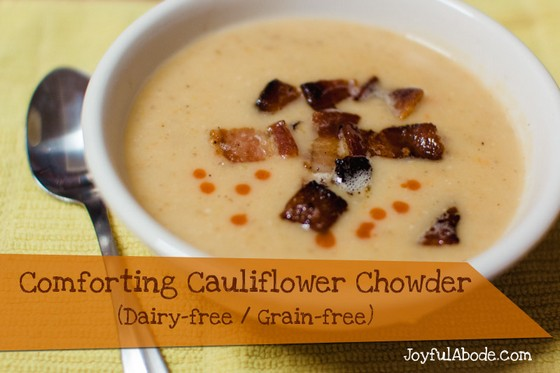 Comforting Cauliflower Soup (Dairy-free & Grain-free) recipe photo