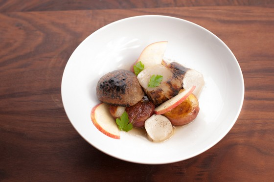 Porcini, Potato and Apple recipe photo
