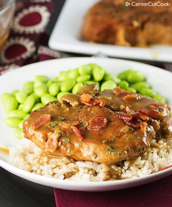 Slow Cooker Smothered Pork Chops recipe photo