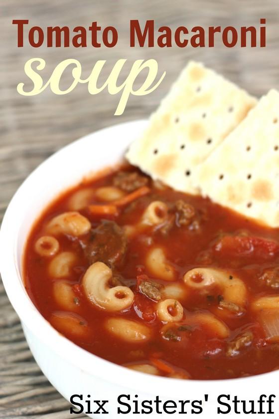 Tomato Macaroni Soup recipe photo