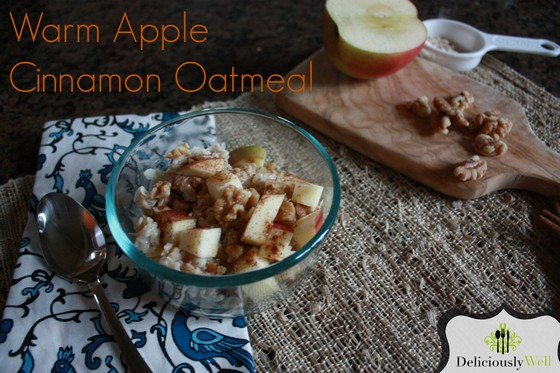 Warm Apple and Cinnamon Oatmeal recipe photo