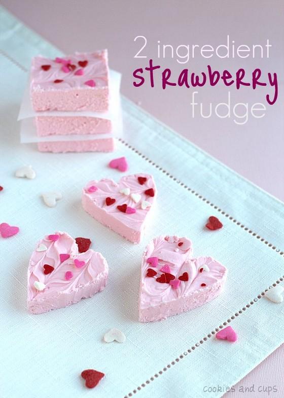2 Ingredient Strawberry Fudge recipe photo