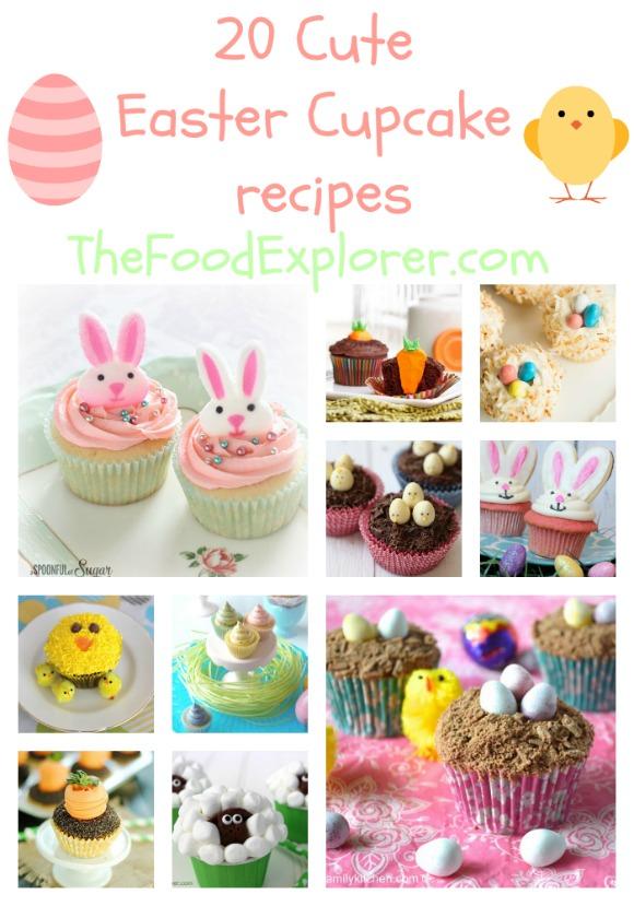 20 cute Easter cupcake recipes