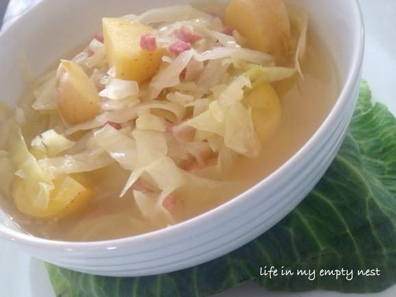 Cabbage Potato Soup in the Crockpot recipe photo