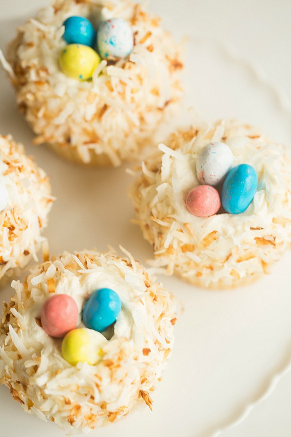 Coconut Cupcakes with Toasted Coconut Frosting recipe photo