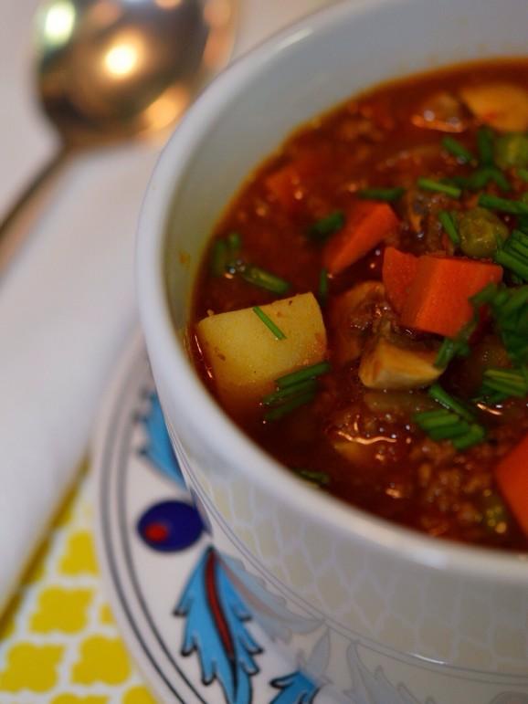 Crockpot Guinness Burger Stew recipe photo
