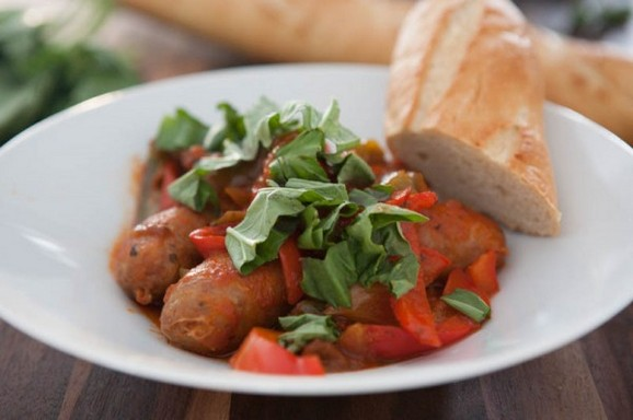 Slow Cooker Sausage and Peppers recipe photo