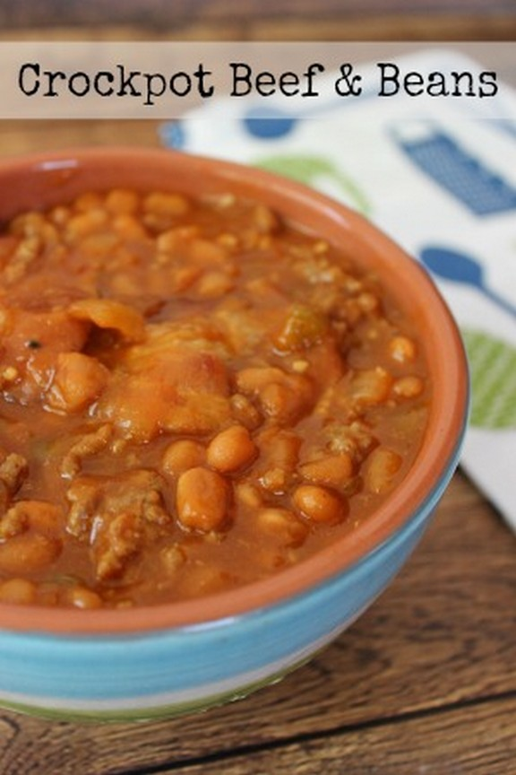 Crock Pot Beef And Beans recipe photo