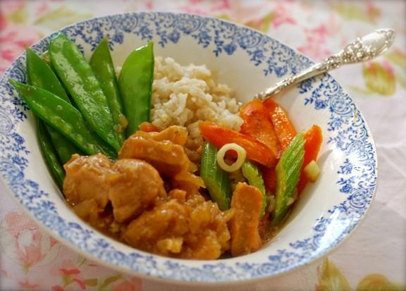 Crock Pot Hawaiian Pineapple Chicken & Brown Rice Bowl recipe photo