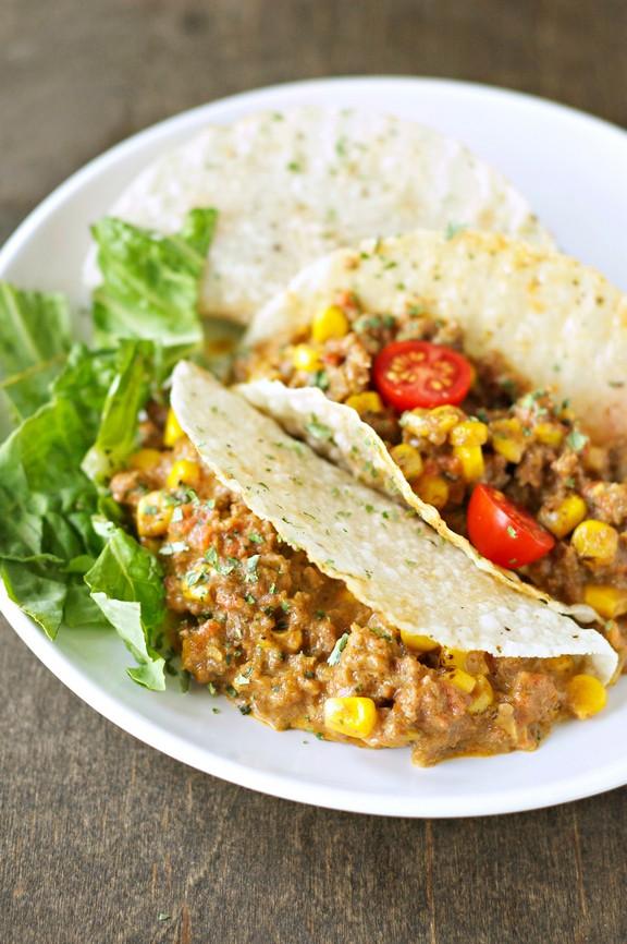 Crockpot Cheesy Beef Tacos recipe photo