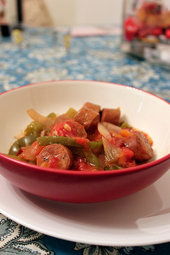 Freezer to Crock Pot Sausage & Peppers recipe photo