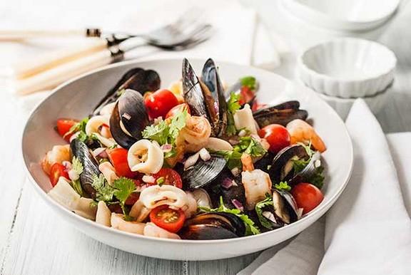 Gluten Free Asian Seafood Salad recipe