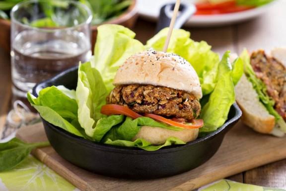 Grillable Gluten-Free Black Bean Burgers recipe photo