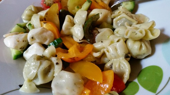 Prosciutto Perline Pasta Salad recipe