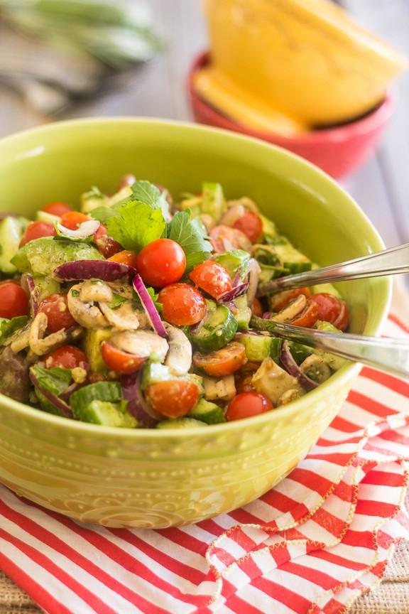 Quick and Easy Tomato Cucumber Salad recipe