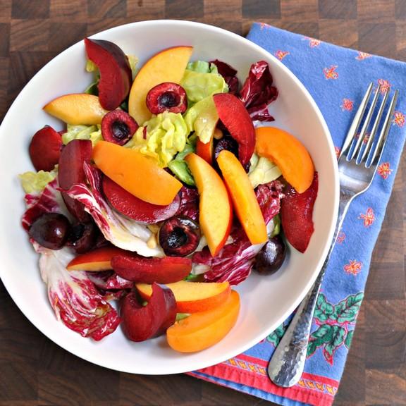 Stone Fruit, Radicchio and Pine Nut Salad recipe