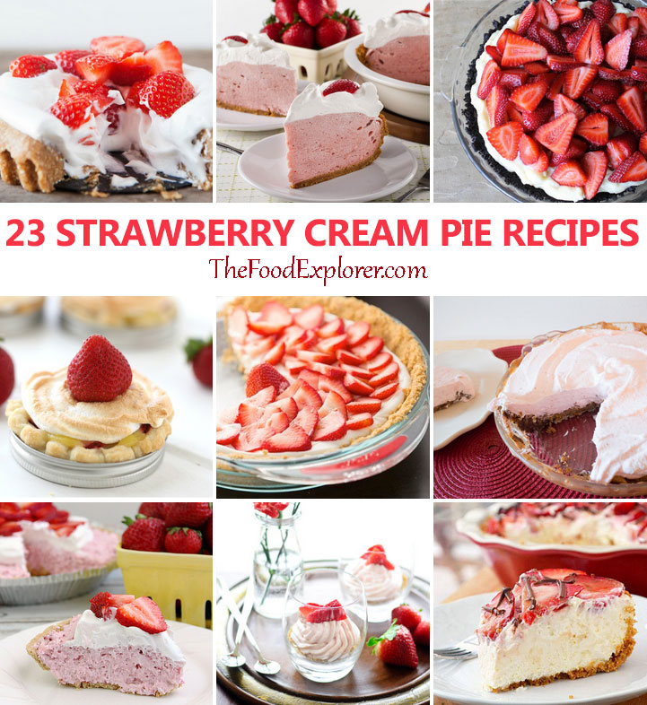23 Delicious Strawberry Cream Pie Recipes