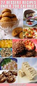 27 dessert recipes under 200 calories per serving