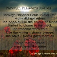 """A Post about Kids and ANZAC Day (but not """"The Last Post"""")"""