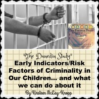 """The Dunedin Study"": Early Indicators/ Risk Factors of Criminality in Our Children... and what we can do about it, By Kirsteen McLay-Knopp"