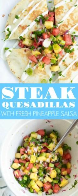 Small Of Steak Quesadilla Recipe