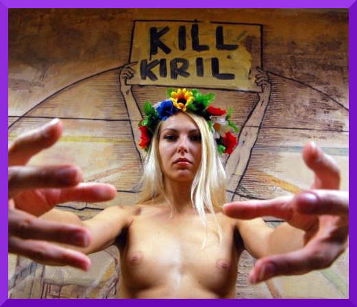 Free Pussy Riot supporters hit Patriarch - Femen Kill Kirill  (4/4)