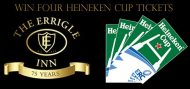 Competition: Win four Heineken Cup Tickets with The Errigle. 