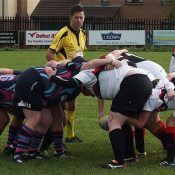 Scrum action from Carrick v Ballymoney Ladies Development League match on Sunday.