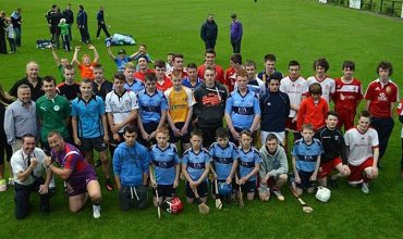 Participants, coaches and guests at Larne Rugby Club.