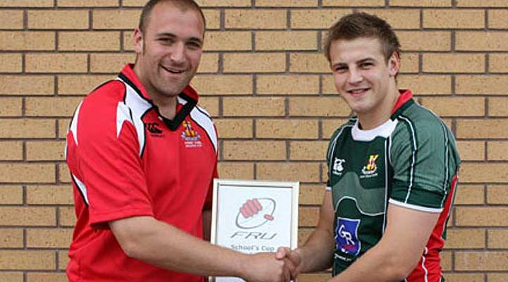 Dave McGuigan picks up the Front Row Union Schools Cup Player of the year back in 2010 - hardly changed a bit Dave!