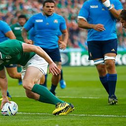 RWC 2015: Ireland secure quarter-final place with nervy Italian win