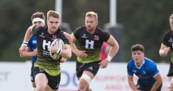 Aaron Cairns breaks for the line for Ulster Academy