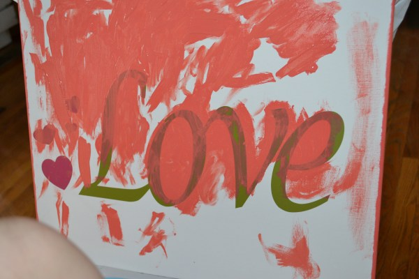 Finger painting canvas