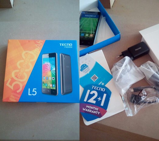 Tecno L5 Specs Tipped; 5000mAh battery and Android 5.1 Lollipop OS