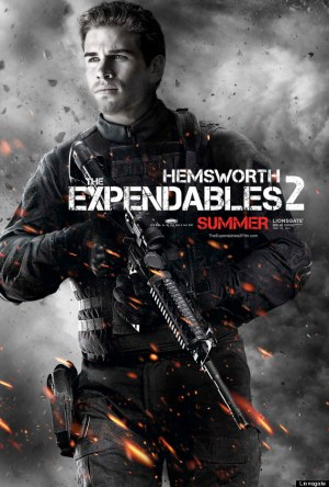 Hemsworth 300x444 Debut of The Expendables 2 Character Posters
