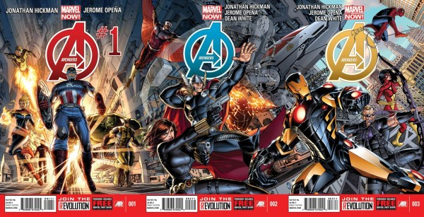 Avengers 1 2 3 Covers 600x307 The Comic Fanatic: Ten Comics to Start Your New Year Out Right